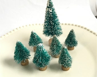 Miniature Christmas Tree, Mini garden decoration/Miniature - for Fairy Gardens,