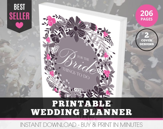 Printable Wedding Planner Binder Planning A Rustic: Printable Wedding Binder Wedding Planner By