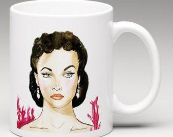 Ceramic Mug, Scarlett O'Hara, Gone with the Wind, feminist