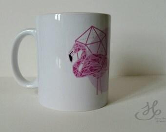 "40% OFF Cup ""Polygonal Flamingo"" digital printing flamingos"