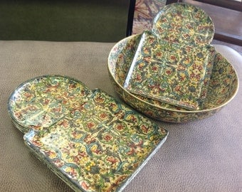 Viking imports paper mache bowl and trays