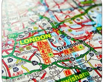 Greenwich - London Map Coasters