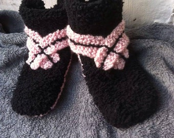 woman slippers / knitted slippers / woman slippers