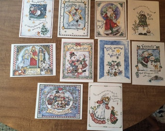 Merry christmas cards 10ct