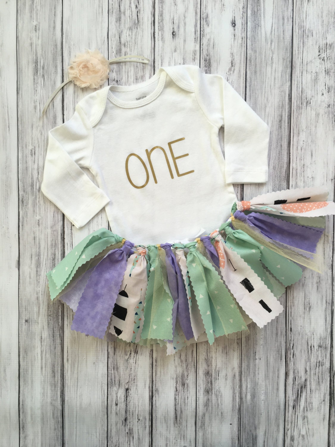 Tribal first birthday outfit shabby chic first birthday - Shabby chic outfit ideas ...