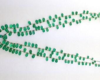 Rare Gem Emerald Smooth Drops,Natural Emerald Plain Drops,Panna Plain Drops,Side Drilled Emerald Drops,Emerald Drops Necklace