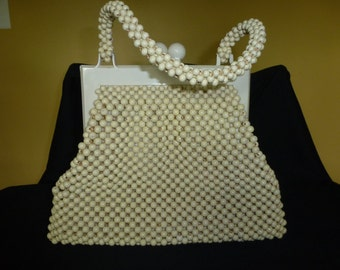 Vintage Beaded Handbag Purse 1950s