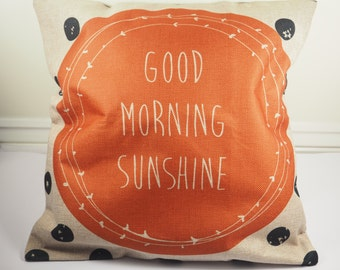Good Morning Sunshine Pillow Quote Pillow Inspirational Quote Pillows decorative home decor Bloggers