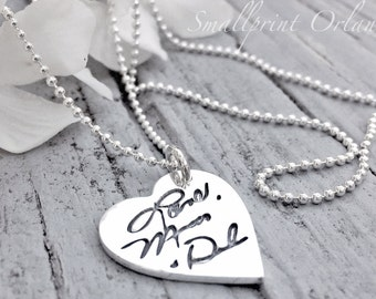Handwriting Necklace - Signature - Personalized Jewelry - Women's Necklace - memorial jewelry - Sympathy - Writing necklace - Wedding