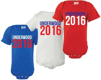 House of Cards Frank and Clare Underwood 2016 baby infant lap shoulder creeper