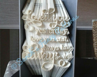 Love Quote - Combi Cut And Fold - Book Folding Pattern