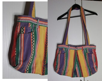Colorful Jeans Bag