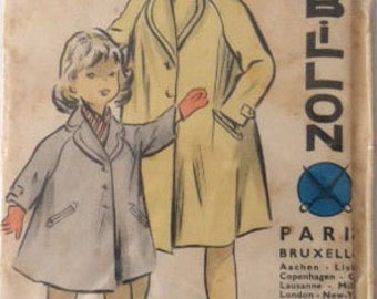Vintage sewing pattern for a children's coat, Herbillon sewing patterns