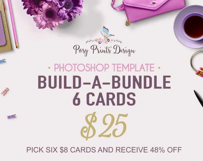 Custom Card Bundle - 6 Card Special - Photoshop Templates