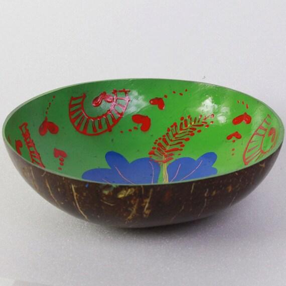 Classic Oriental Decorative Multipurpose Handmade Coconut Shell Bowl (PC 15)