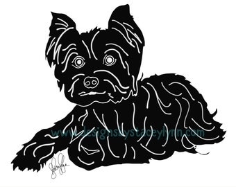 Yorkie SVG & JPG File