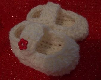 Baby booties,ballerina,  shoes, boots, - Crocheted Baby Booties , wool, booties for baby