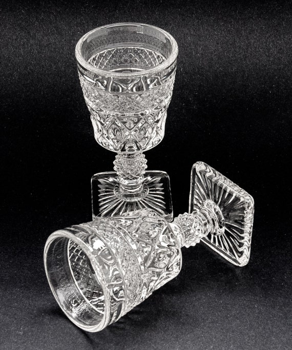 Wine Depression Glass Goblets Cape Cod Imperial