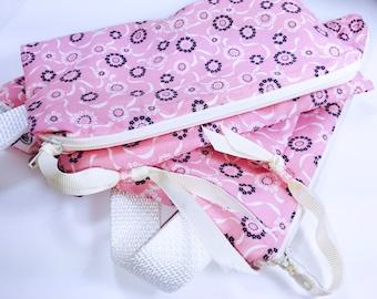 Large Pretty Pink Wet Bags, Set of 2, Travel Bags, Swim Bag, Quick Dry Bag, Diaper Bag, Beach Wet Bag, Swim Bag, Waterproof Pouch