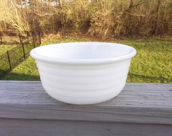 SALE Vintage milk glass mixer bowl