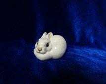 VINTAGE Porcelain Figurine Soviet ussr lion lomonosov LFZ