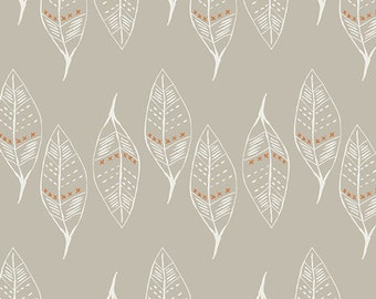 SALE!! 1/2 Yard KNIT -Wanderer by April Rhodes for Art Gallery FAbrics (K-13305) Gust of Leaves Silver