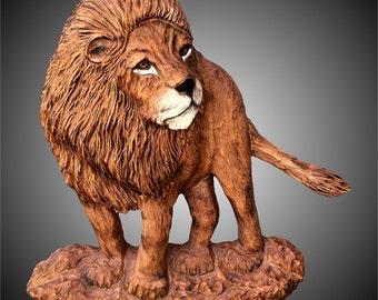 African Lion Version 2 Wall Sculpture