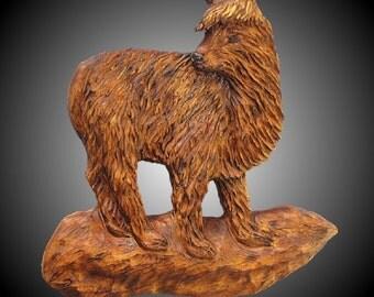 Alpaca Version 1 Wall Sculpture