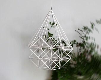 DIAMOND PINE TREE Himmeli | Modern Hanging Mobile | Geometric Art Sphere |  Minimalist Home Decor