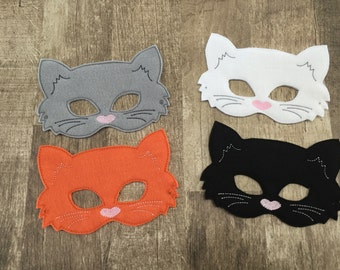 Kitty Cat Felt Mask for Dress Up, Costume, Pretend Play, Cosplay