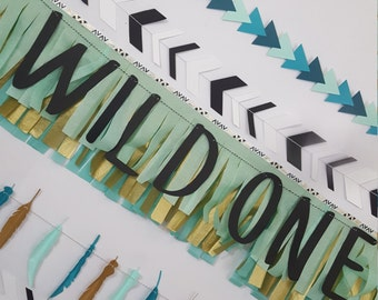 Tribal Wild One First Birthday Fringe Banner