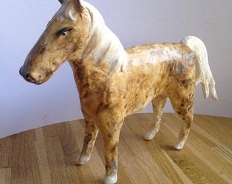 Paper mache horse sculpture/ooak