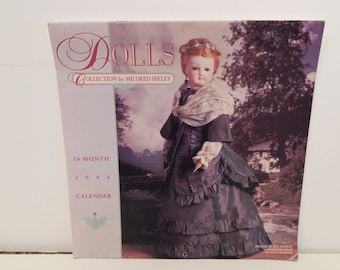 Vintage Calendar 16 month Dolls Collection by Mildred Seeley 1995