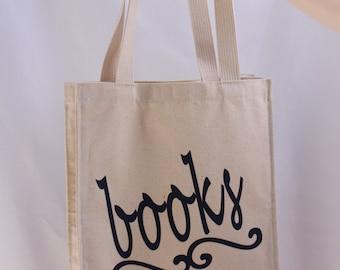 Books - Cotton Canvas Tote Bag