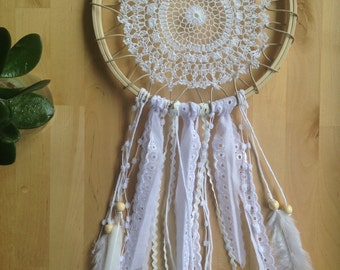 Feather + Doiley Dreamcatcher - for your bedroom, nursery or wedding