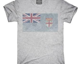 Retro Vintage Fiji Flag T-Shirt, Hoodie, Tank Top, Gifts