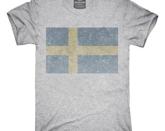 Retro Vintage Sweden Flag T-Shirt, Hoodie, Tank Top, Gifts