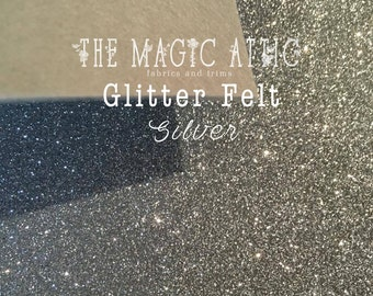 Glitter Felt - Silver