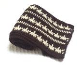 Geometric Stripes Two-Tone Mens Crochet Scarf Pattern