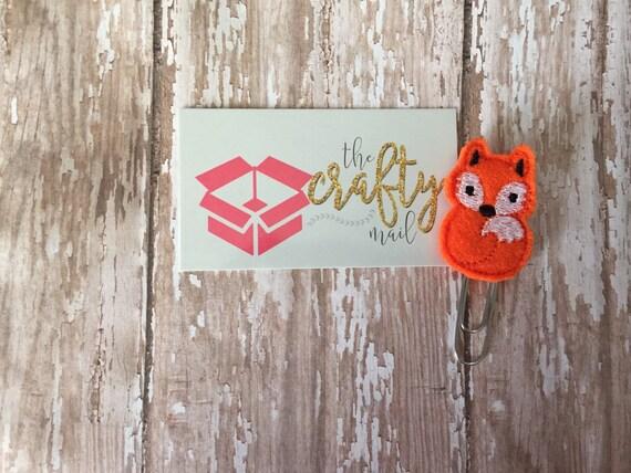 Full Fox Paper Clip. Animal planner clip. Woodland planner clip