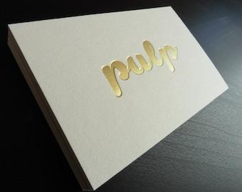 Letterpress Foil Business Cards