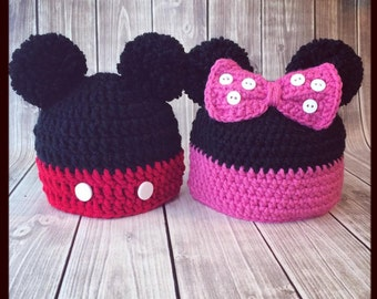 Mickey mouse knitted hat Etsy