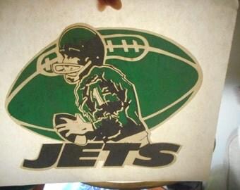True vintage Jets Football team iron on.Free Shipping.