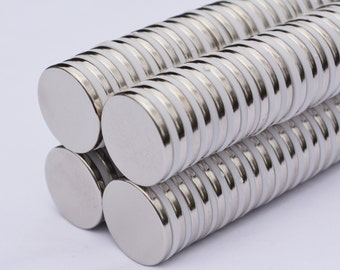 """25mm (1"""") X 3mm DISK MAGNETS craft / refrigerator / project - 25 pieces - STRONG! great quality - Neodymium - rare Earth (69)"""