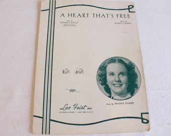 Vintage sheet music A Heart That's Free by Alfred G. Robyn