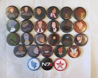 Mass Effect Minimalist Buttons