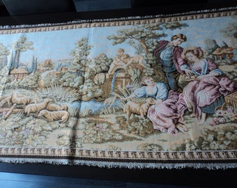 Reduced French Vintage beautiful wall tapestry (00375)