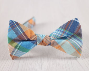 blue plaid bowtie.wedding bowtie.cotton plaid bow ties for groomsmen plaid bowtie for weddings.cheap cotton bowtie.simple plaid bow tie+bt48