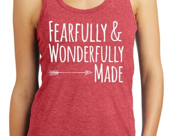 Psalm 139:14 - Fearfully & Wonderfully Made Scripture Tank