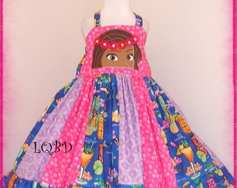 Princess Moana Hawaii Princess Dress - RTS - ready to ship - fits approx 4T 4/5 - Birthday Cruise Hawaiian Princess